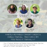 In Conversation with Costa & Friends: an evening of community connection, sustainability & regenerative agriculture.